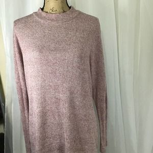 Chance or Fate Ribbed Crew Neck Top Pink S
